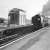 My very first run with a Merchant Navy class locomotive was from from here, at Wareham, on 09/05/64. Having bashed the Swanage branch that afternoon my train home to London, the 17 35 Weymouth to Waterloo, has 35014 Nederland Line in charge.