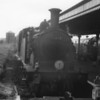 """And so to the second M7 worked branch that 09/05/64 day at Wareham where  Bournemouth's 30107 is preparing to """"push"""" the 16 57 to Swanage."""
