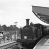 With the push/pull operation of the branch still possible because of the use of the auto fitted 30052 the late arrival of the inward service had no effect upon the 14 13 departure from Lymington Pier on 09/05/64.