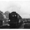 My favourite Merchant, 35014 Nederland Line, is seen here departing Brockenhurst on 03/07/65 with a Waterloo bound express.  This surviver from the Exmouth Junction cull of autumn 64 was withdrawn at Weymouth in March 67.