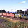 After their booked stop in Tebay loop 86639 and 86622 scream passed Elmsfield with the Coatbridge to Crewe freightliner, 21/7/2014.