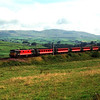 86206 City of Stoke on Trent descends Grayrigg passed Hayfell with the 08:40 Glasgow to Birmingham, 11/8/2000.