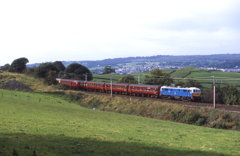 Making a rare appearance north of Carnforth 86259 Les Ross/Peter Pan storms up the climb near Hayfell with a Cumbrian Mountain Express tour, 1/10/2016.