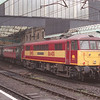 86401 Hertfordshire Railtours stands platform3 at Carlisle propelling the 10:40 Glasgow - Euston, 5/1/2002.