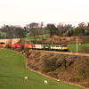 86638 and 86607 descend towards Oxenholme with the evening freightliner, 6/4/2000.