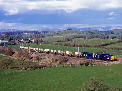 37607 + 20313 haul a mega flask train past Rowell 19/4/06.  The train was diverted whilst the Leven viaduct was being reconstructed.