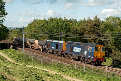 20309+20303 pass Hincaster with diverted flasks 31/5/11.
