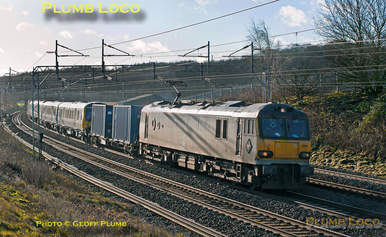 92044, 350 406, 350 407, Old Linslade, 6X50, 1st February 2014