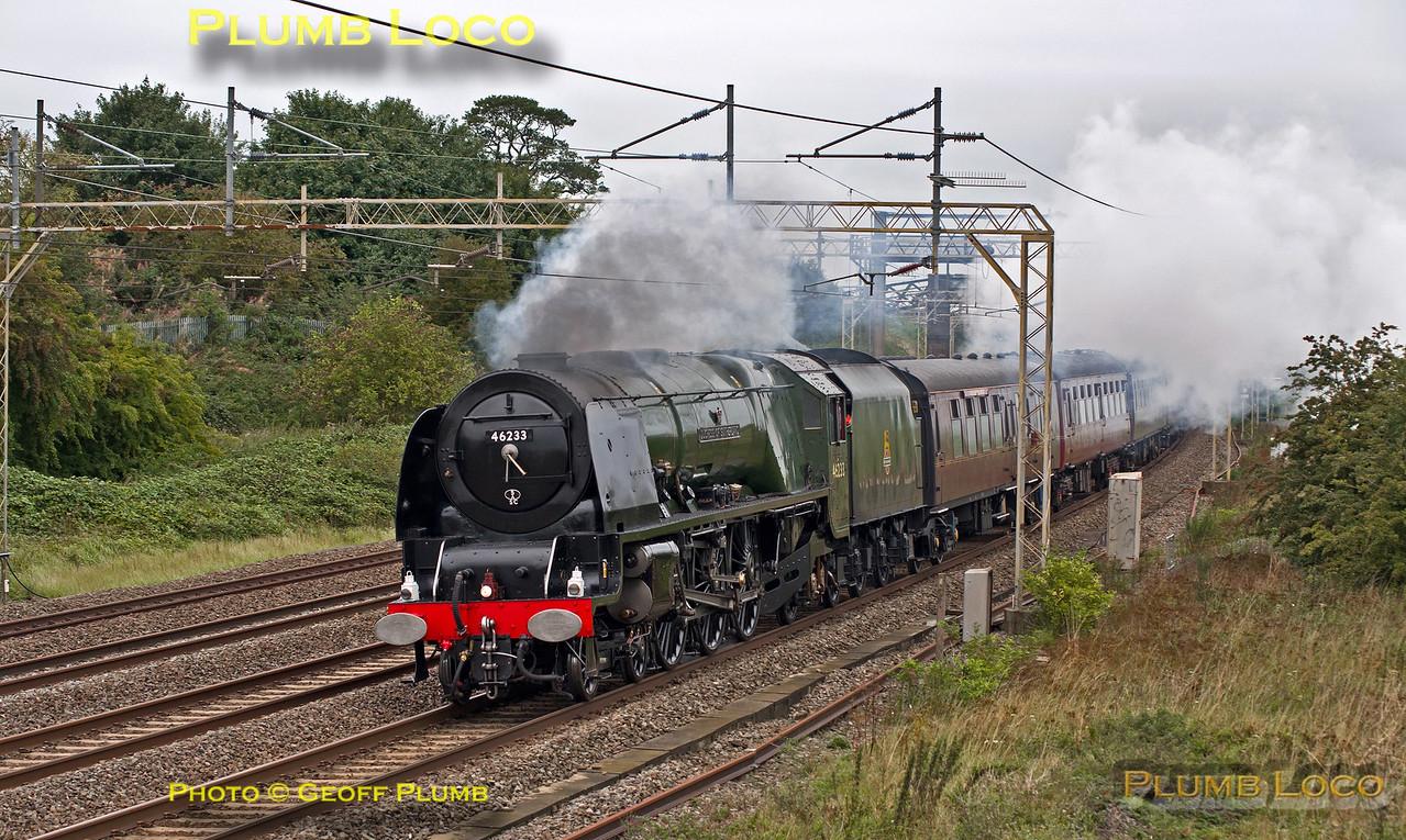"46233 ""Duchess of Sutherland"", Old Linslade, 1Z62, 3rd September 2015"