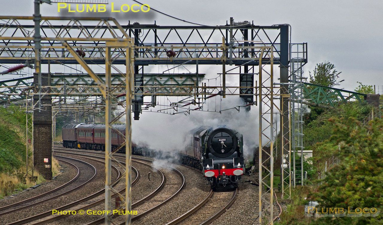 "46233 ""Duchess of Sutherland"", Old Linslade, 1Z62, 3rd September 2015"