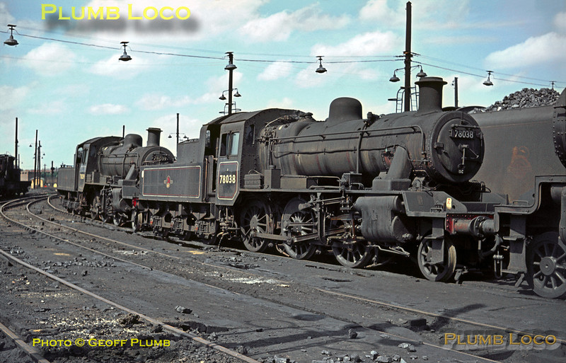 78038 & 78039, Willesden MPD, 3rd May 1964