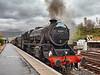 Steam Locomotive (45407) at Crianlarich Station - 26 October 2013
