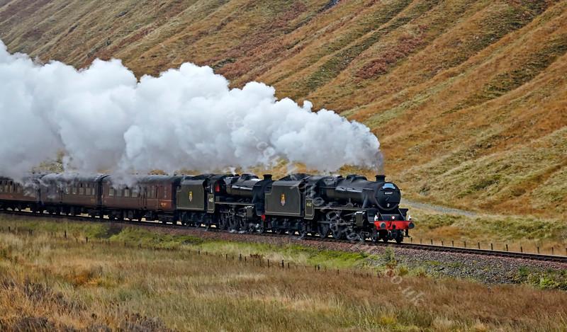 Double Header Approaching Tyndrum - 26 October 2013