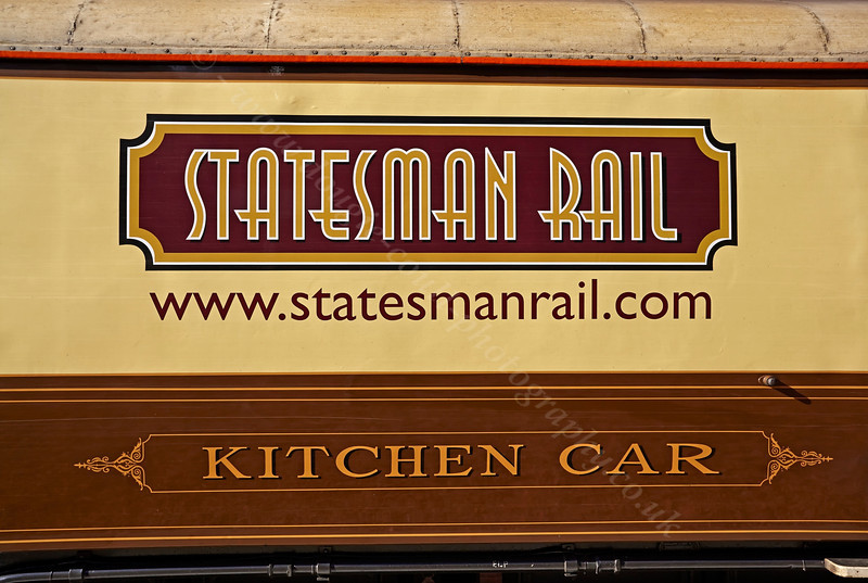 Kitchen Car on the Statesman Rail Tour in Garelochhead Station - 13 October 2013