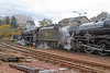 44871 and 45407 Taking Water at Crianlarich Station - 27 October 2012