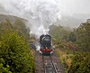 'Great Marquess' (61994) Pulling out of Garelochhead in the Heavy Rain - 22 September 2013