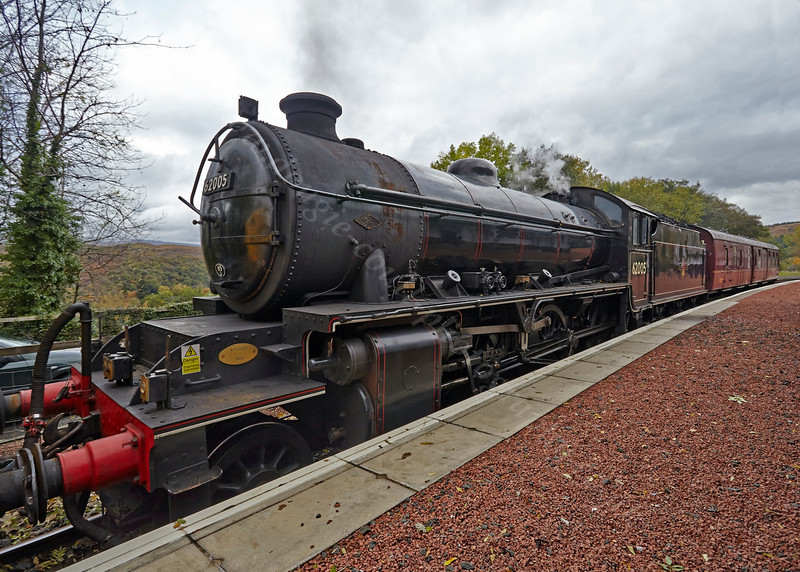 Locomotive (62005) at Garelochhead - 26 October 2013