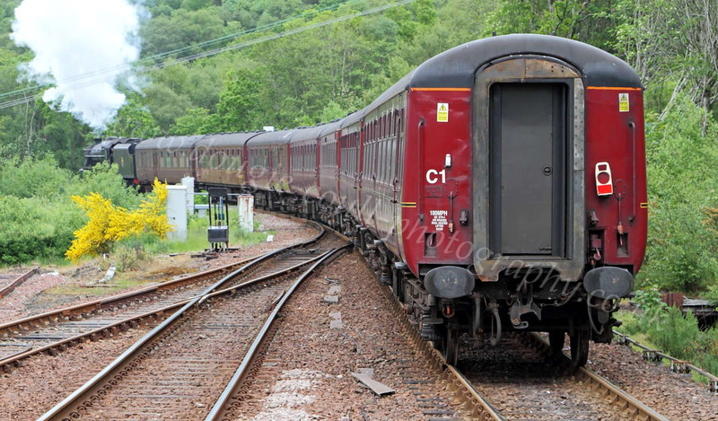 LMS Class 5MT 4-6-0 - 44871 - Departing Garelochhead - 2 June 2012