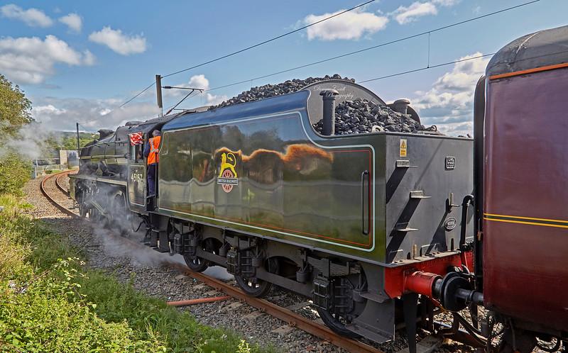 LMS Stanier Class 5 4-6-0 (45157) at Craigendoran - 25 August 2018