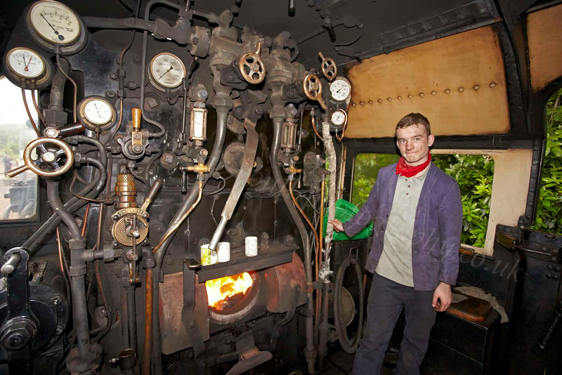 Jack with the Steam Loco 44871 - Garelochhead Station - 3 August 2012