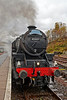 Steam Locomotive (45407) - The Lancashire Fusilier - at Crianlarich Station - 26 October 2013
