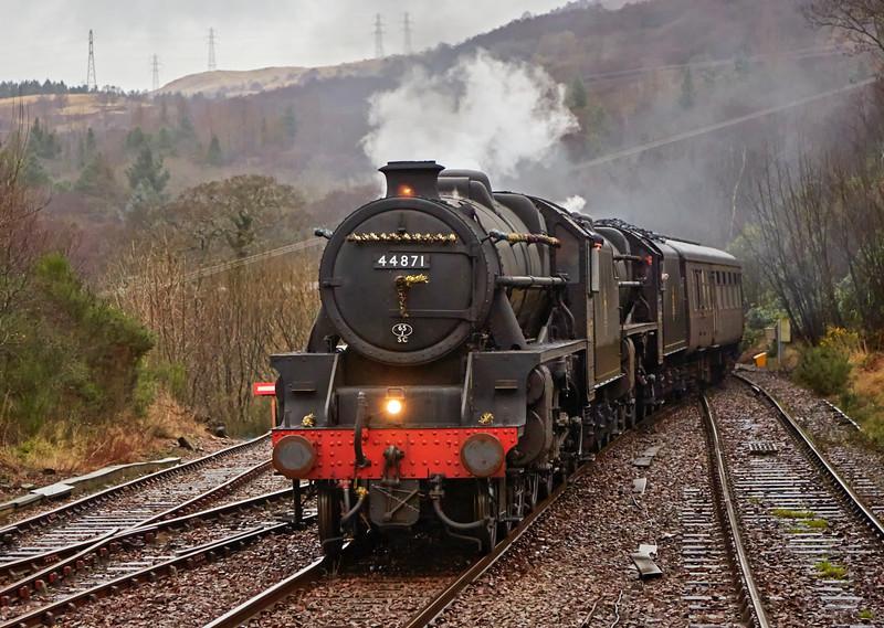 Steam Locomotives at Garelochhead - 30 December 2016