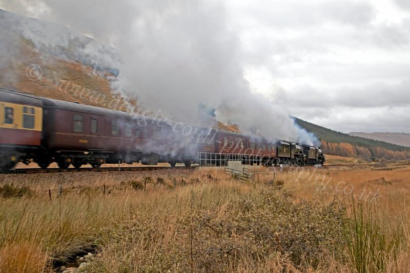 Heading to Crianlarich Station - 27 October 2012
