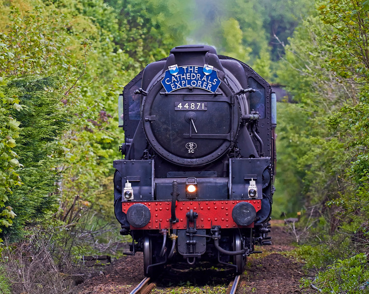 Steam Locomotive '44871' approaching Helensburgh - 13 May 2014