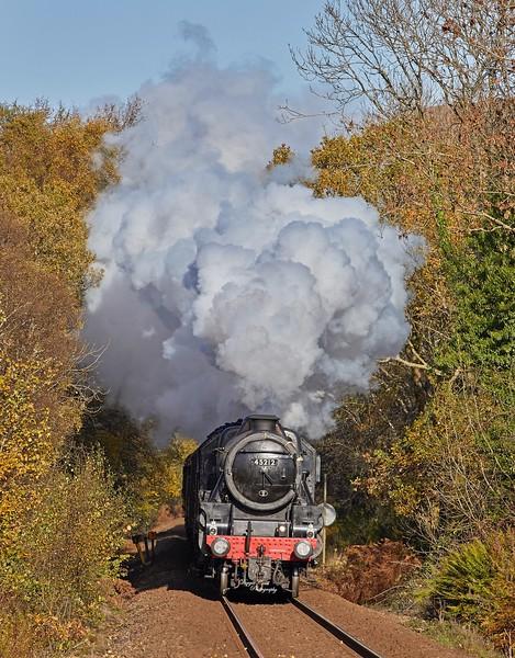 LMS 'Black 5' 45212 Steam Locomotive  Near Garelochhead - 27 October 2018