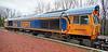 Diesel Locomotive 66736 (Wolverhampton Wanderers) at Garelochhead - 3 January 2018