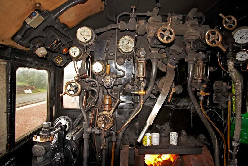 Steam Loco 44871 Cab Interior - Garelochhead Station - 3 August 2012