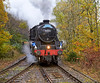 Steam Tour Train Approaching Arrochar Station - 27 October 2012