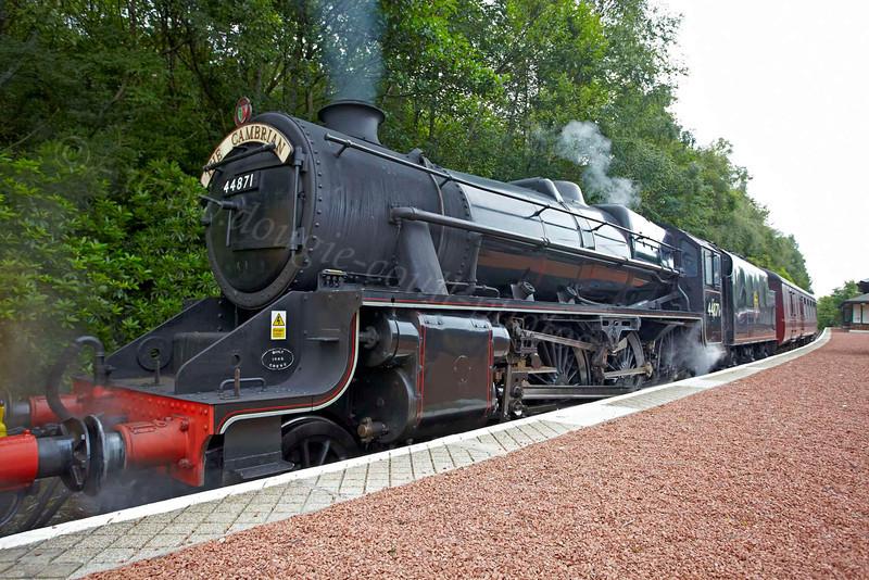 Steam Loco 44871 - Garelochhead Station - 3 August 2012