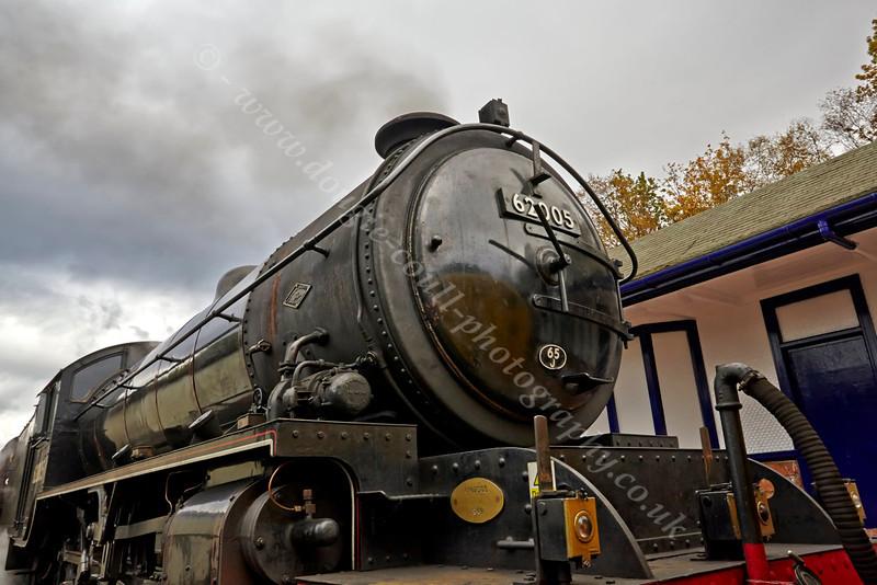 Steam Locomotive 62005 at Garelochhead - 26 October 2013