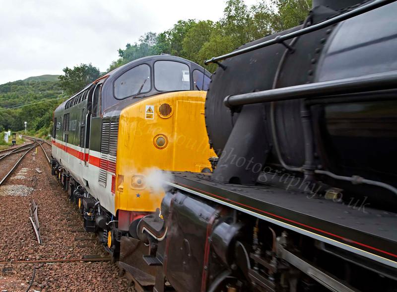 Steam Loco 44871and Diesel Loco 37518 - Garelochhead Station - 3 August 2012