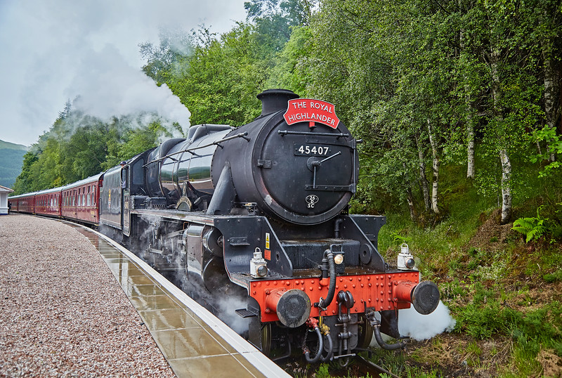 """""""The Lancashire Fusillier"""" (45407) at Tyndrum Upper Station - 4 July 2016"""