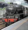 LMS 4-6-0 Black 5 - 44871 - Charges Through Dumbarton Station - 9 May 2011