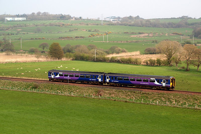 156454 heads towards the former Mirehouse Junction. 19/04/11.
