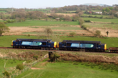 37602 and 37603 with a diverted 6K73. 20/04/11.