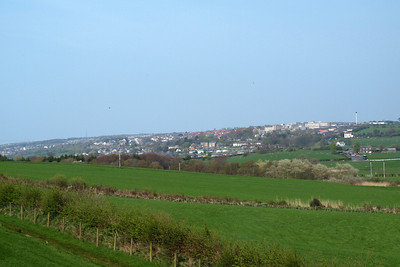 A view of Whitehaven seen from the hillside in the Pow Beck valley to the south. 20/04/11.