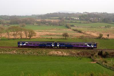 Northern Rail Class 156 DMU 156454. 19/04/11.