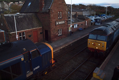 37603 meets 57011 at St Bees, 04/04/12.