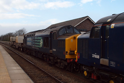 37059, which was withdrawn shortly afterwards and put into store, as the train loco on 6K73, 03/04/12.