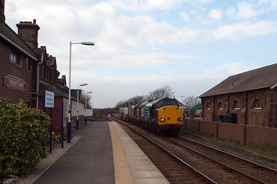 37608 & 37059 work a delayed 6K73 through Ravenglass, 03/04/12.