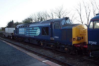 37611, being towed from Sellafield to Carlisle by the 57s, 04/04/12.