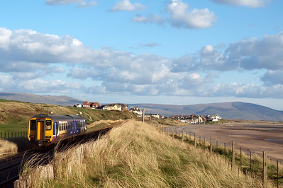 156484 heads south past Seascale golf course, 04/04/12.