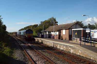 Lost the gamble... double Sheds head up today's 6K73 at Ravenglass. 09/08/11.