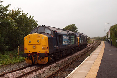 37194 and 37087 at Ravenglass on 0C52, 10/08/11.