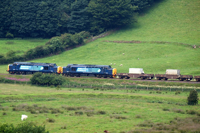 37602 and 37218 pass Low Walton en route to Sellafield. 09/07/11.