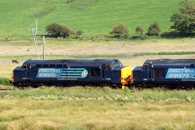 37218 leads the ensemble north towards Whitehaven. 07/07/11.